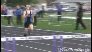 Polkow sets 300 hurdles record at Top Ten