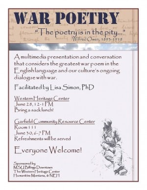 war poets and five senses Poetry can evoke a wide spectrum of emotions ranging from sadness to exultation through the poet's manipulation of the 5 primal senses sight, sound, taste, smell and touch this essay shall explore the emotive language used by great war poets in order.