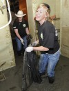 FFA member Brooke McCleary of Roundup hauls out carpet