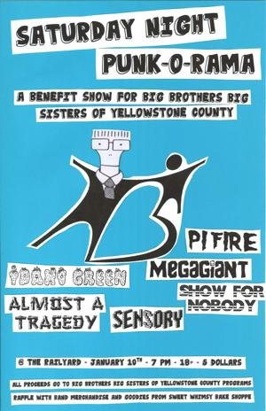 Saturday Night Punk-O-Rama: A Benefit Show For Big Brothers Big Sisters of Yellowstone County