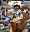 "Tanner Aus rides ""Smilin' Bob"""