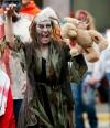 Tedee Church carries a zombie teddy bear