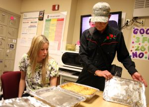 Formerly homeless vet saves up to cook for caring nurses
