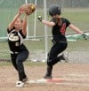 Bozeman's Kayla Lyons, 4, is safe at first
