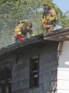 Fire crews put out blaze at Heights home
