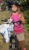 Taya Oschmann enjoys her new bike