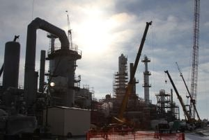 Dickinson refinery costing more than expected due to delays