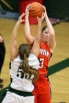 Clancee Ferrin of Senior grabs a rebound