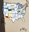 A map of the door of Diann Hanson's motor coach