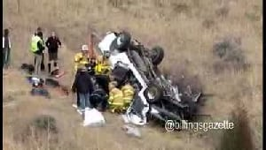 Car rollover on I-94
