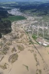 The Musselshell River floods the town of Roundup