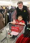Dave Staton shops with Gabriel Dominguez