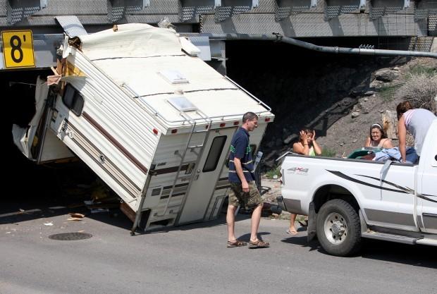 Truck Camper Hits Railroad Overpass Billings News