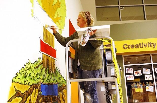 Casper elementary school teaches 39 7 habits 39 wyoming news for 7 habits tree mural