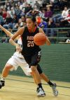 Alyssa Big Man of Hardin drives to the basket