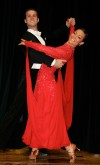 Claire von Nieda of Absarokee, dances with partner Mike Foncannon