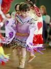 Ivy Runsabove performs jingle dance