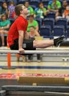 Weston Windhalm competes on the parallel bars