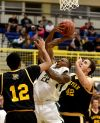 Rocky's Tyree Anderson picks up a rebound