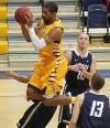 MSUB's Jerrell Crayton, 21, rebounds
