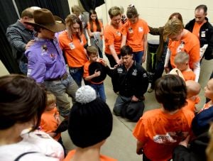 PBR, cancer support group partner give kids behind the scenes look at bull riding