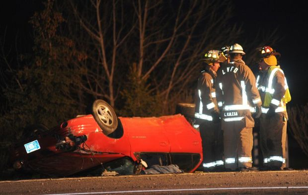 Rollover south of Laurel sends 1 to hospital