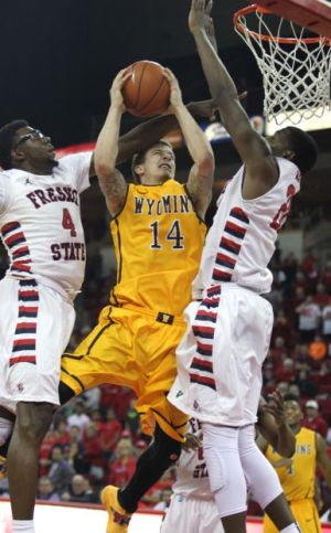 Wyoming guard Adams grows stronger in second half