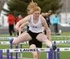 Morgan Sulser wins the 100 hurdles