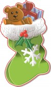 Empty Stockings - teddy bear