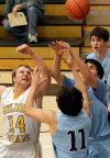 West's Jason Leinwand (14) battles