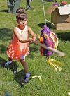 Olivia Reinemer hits a pinata