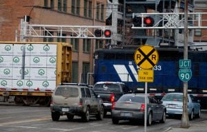Council hopes to clear train crossing backup at busy intersection