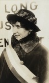 Hunkins worked for suffrage