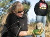 Jessie McInelly releases a screech owl at ZooMontana
