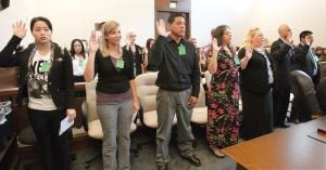 'It's kind of a surreal moment': 15 people sworn in as new Americans on Thursday