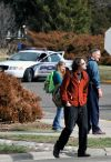 Students leave campus