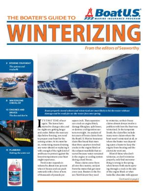 Booklet offers tips on winterizing boats