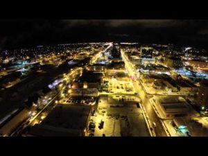 Snowy night in Billings