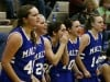 Taylor Pankratz, Mercedes Stiles, Danielle Lett, McKenna Levesque, and Devin Simser cheer on their teammates