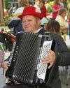 Russell Engesser plays accordion