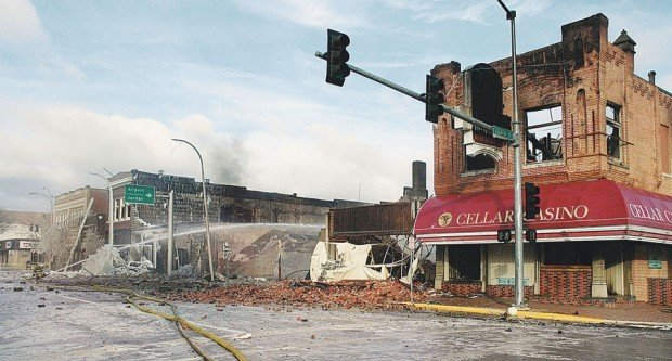 miles city rebuilds after main street fire montana news