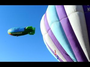 Airship launches from Billings West End