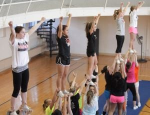Camp unites cheerleaders with the next generation