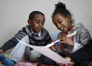 The door is open: Eritrean refugee family adjusts to winter in Montana