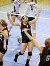 Bailey Cranford of Huntley Project celebrates a score