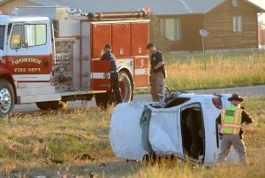 Man partially ejected from vehicle in Highway 312 crash