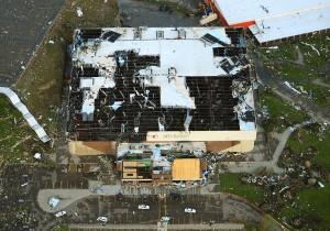 Tornado destroys MetraPark arena, Heights stores