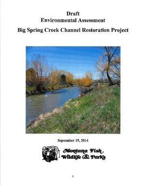 Meeting Wednesday on Big Spring Creek work