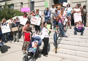 'Stop blaming victims': Protest critical of judge's lenient sentence