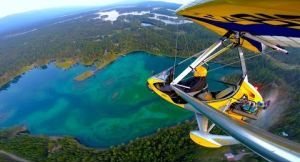 The beauty of Flathead Lake from above